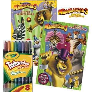 Wanted Coloring Book Set with Crayola Twistables Crayons Toys & Games