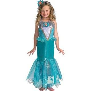 Disney Princess Ariel Dress Up Costume Size 4 6X and Hair Bow Toys