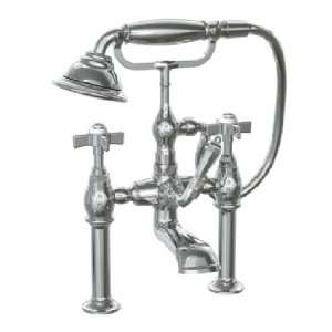 845528.444 Antique Nickel Savina Double Handle Roman Tub Filler Faucet