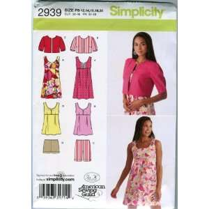 Simplicity Sewing Pattern 2939 Misses/Miss Petite Mini Dress or Top