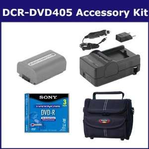 Sony DCR DVD405 Camcorder Accessory Kit includes