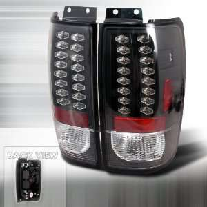 97 98 99 00 01 02 Ford Expedition LED Tail Lights   Black