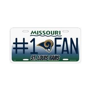 St Louis Rams #1 Fan Metal License Plate **