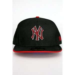Era Zig N Zag New York Yankees Hat Black. Size 8
