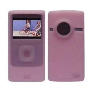 Pink Soft Silicone Skin Case for Flip Ultra HD Camcorder 8