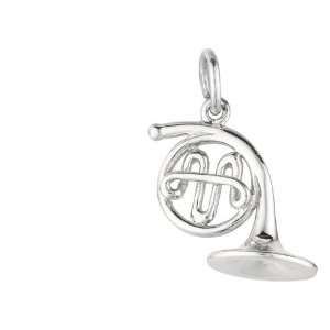 Sterling Silver French Horn Charm Jewelry