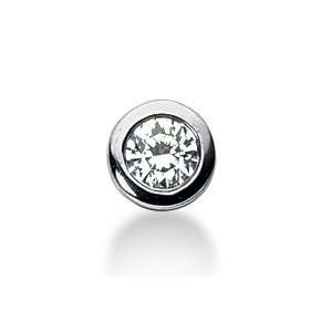 Diamond Pendant Round Pave Initial Chain 14k White Gold DALES