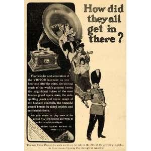 1907 Ad Victor Talking Machine Co. Gramophone Music   Original Print