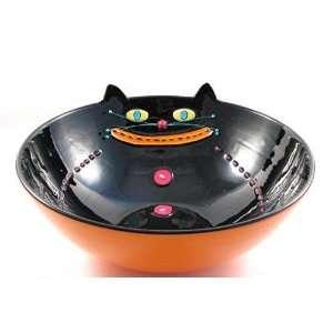 Fat Black Cat Halloween Candy Bowl