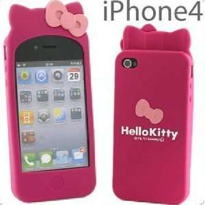 Hello Kitty Silicone Case for Iphone 4 4s Cell Phones & Accessories