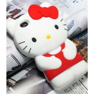 **RED** 3D Hello Kitty Cute Soft Silicone Back Skin Case