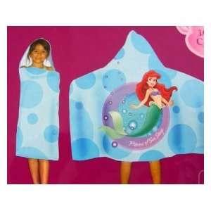 Little Mermaid Ariel Disney Princess Hooded Towel