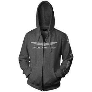 Honda Collection Gold Wing Zip Up Hoodie   Medium/Charcoal: Automotive