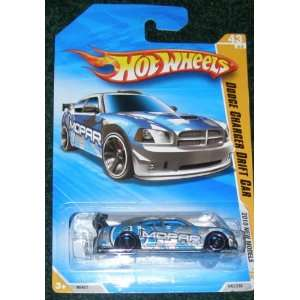 2010 HOT WHEELS NEW MODELS 43/44 SILVER & BLUE DODGE CHARGER DRIFT CAR