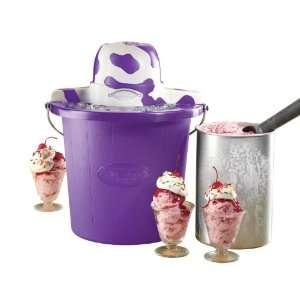 Electrics ICMP400PURPLE 4 Quart Cow Electric Ice Cream Maker, Purple