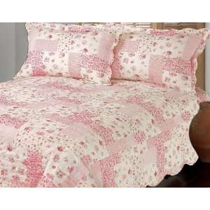 Pink Cherry Blossom Cotton Quilt Set Queen