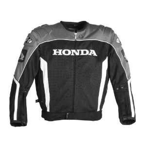 Joe Rocket Honda CBR Mens Textile Mesh Motorcycle Jacket Silver/Black