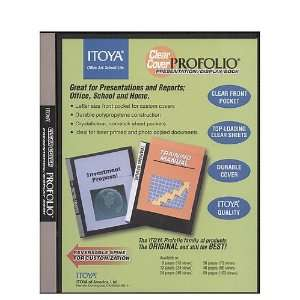 Itoya Clear Cover Profolio Presentation Books 36 pages (72