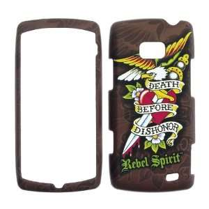 LG VS740 Ally  Rebel Spirit Death before Dishonor rubberized finish