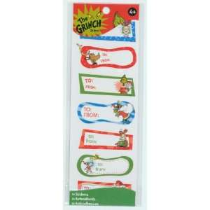 The Grinch Christmas Tag Stickers (64515T) Arts, Crafts & Sewing