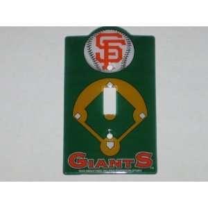 SAN FRANCISCO GIANTS Team Logo Plastic LIGHT SWITCH PLATE