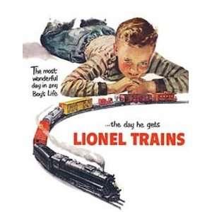RAILROAD Lionel Train Metal Tin Sign Lionel Boys Dream