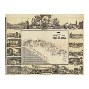 B. Y Ca. May   Mapa Historico Pintoresca Moderno De Al