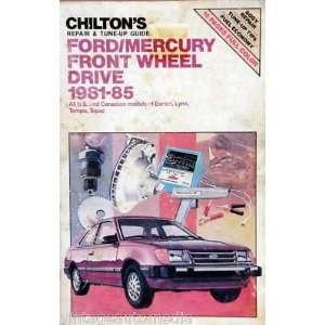 1981 85 Chilton Repair Manual   Ford/Mercury FWD Cars