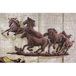Metal Horses Wall Art Home Decor
