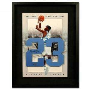 Michael Jordan Autographed University of North Carolina Jersey Numbers