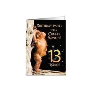Birthday party Invitation card for a Cheeky Monkey Card Toys & Games