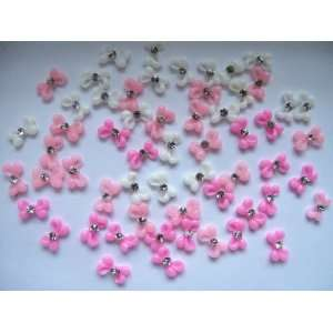 Nail Art 3d 60 Pieces Mix Bow / Rhinestone for Nails, Cellphones 1cm