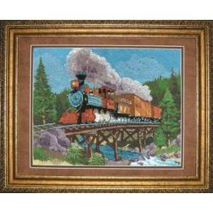 Steam Horse Needlepoint Kit: Stitched In Floss: Home & Kitchen
