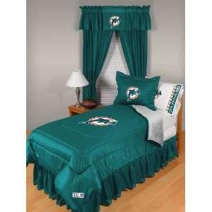 NFL Miami Dolphins Locker Room Twin Comforter Sports