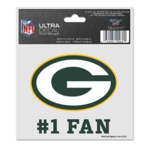 GREEN BAY PACKERS 3X4 ULTRA DECAL WINDOW CLING