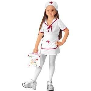 Kids White Nurse Costume (SizeSmall 4 6) Toys & Games