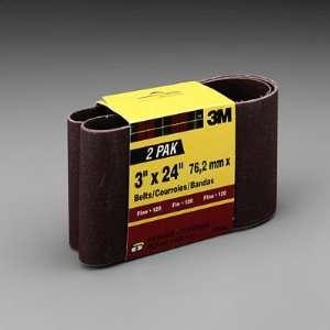 3M 3 x 24 Heavy Duty Power Sanding Belts, Packaged