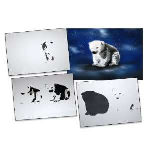 Step by Step Airbrush Stencil Template AS 004 M ca. 5,11