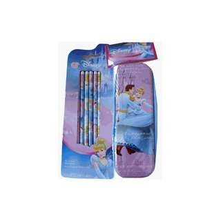 Disney Princess Cinderella Pencil Box + 6 Pencils Set Toys & Games