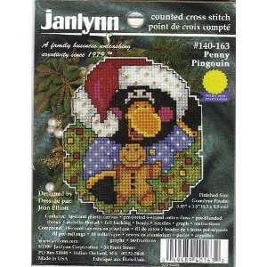 Penny Penguin Christmas Ornament   Janlynn Cross Stitch