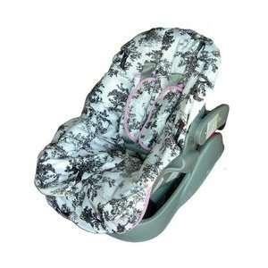 Minky Paradise Toile Pink Toddler Car Seat Cover Baby