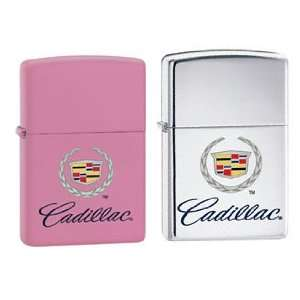 Zippo Lighter Set   Cadillac Pink Matte and Classic Chrome