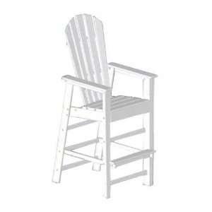 Polywood Recycled Plastic South Beach Bar Chair Patio, Lawn & Garden