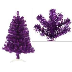 3 Pre Lit Purple Artificial Sparkling Christmas Tree