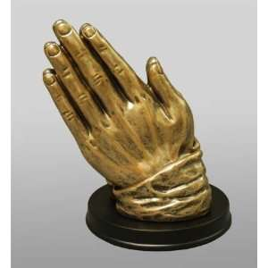 Praying Hands Religious Figurine Bronze: Home & Kitchen