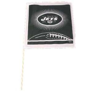 NFL NEW YORK JETS FLAG ON STICK WHITE GREEN VINTAGE RETRO