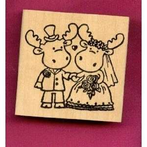 Wedding Riley Rubber Stamp on 2.5 X 2.5 Block Everything