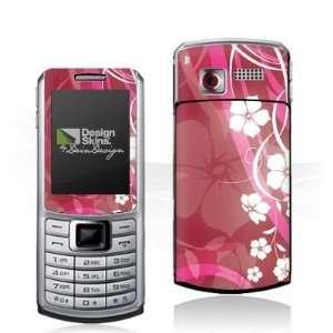 Design Skins for Samsung S3310   Pink Flower Design Folie