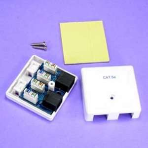 SF Cable, CAT5E 2 Port Surface Mount Box White, PCB Type