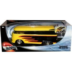 CUSTOMIZED VW DRAG BUS * Yellow & Black * 1:18 Scale Hot